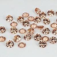 צבע שמפניה עיצוב מעוקב Zirconia אבנים העגול Pointback חרוזים וגינה עבור תכשיטי 3D נייל ארט קישוטי DIY 4-18 מ