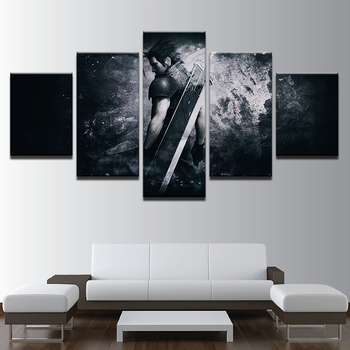 Canvas Modern Frame Home Decor Wall Art Poster 5 Panel Game Final Fantasy Character Living Room Modular Print Pictures Painting