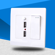 High quality intelligent wall switch panel with USB charger fast charging AC 110V~250V 10A DC 5V 2100MA 2500W free shipping цена и фото