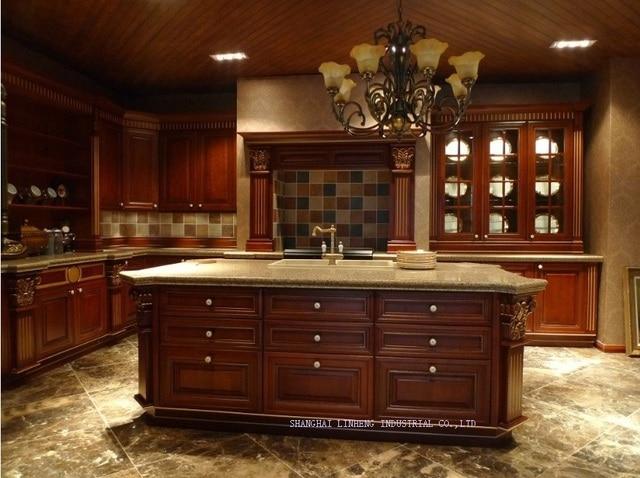 Classico best seller in legno massello mobili da cucina (LH SW065 ...