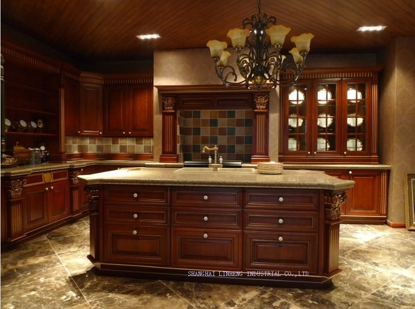 Classic Best Selling Solid Wood Kitchen Cabinets(LH SW065