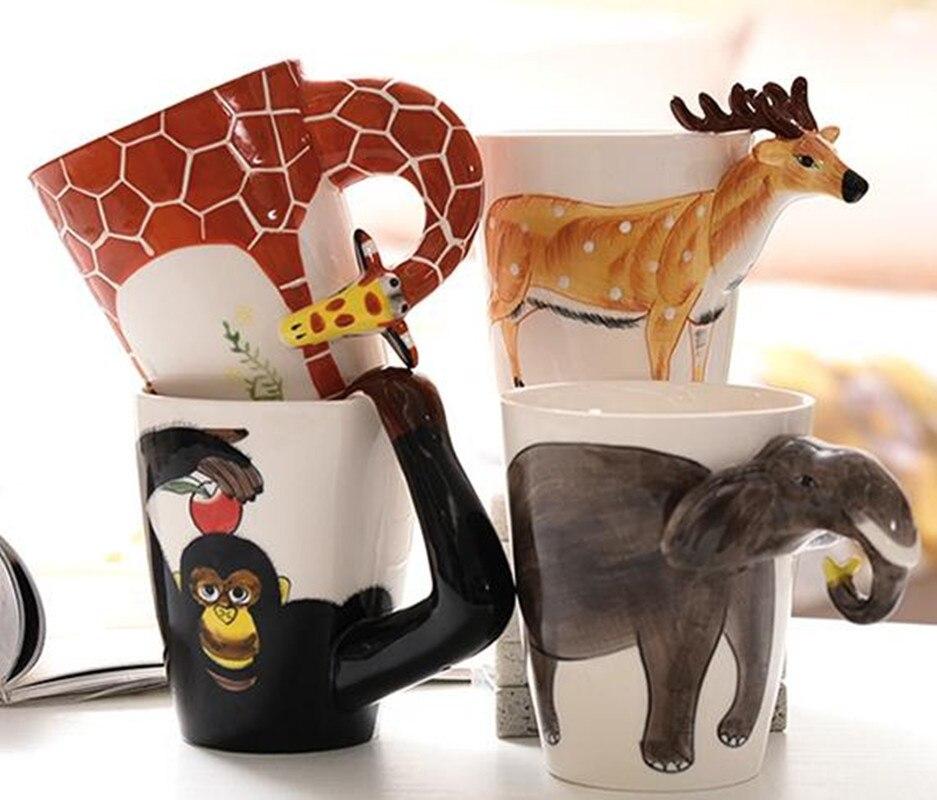 3D animal shape Ceramic coffee Mug