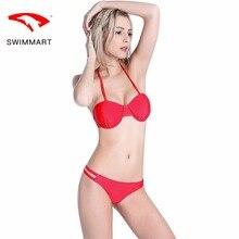 SWIMMART bikini high-grade steel stretch swimsuit swimwear women high waist bathing suit swimming push up bik