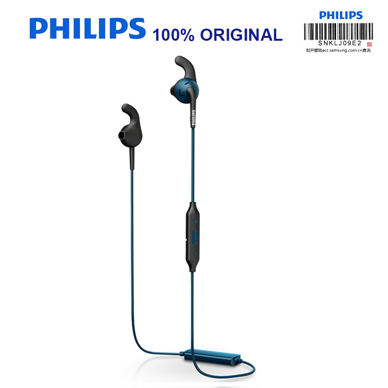 Philips SHQ6500 Original Bluetooth Wireless Earphone Sport Waterproof Earphone with Microphone for Phone and Music Official Test-in Bluetooth Earphones & Headphones from Consumer Electronics    2