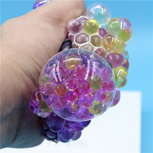 New Cute Anti Stress Face Reliever Grape Ball Autism Mood Squeeze Relief Healthy Toy Funny Geek Gadget Vent Toy