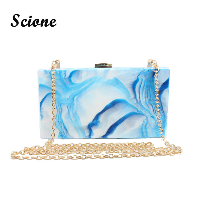 ФОТО 2017 Hot Women Acrylic Clutch Handbags Brand Designer Women Evening Clutch Hard Box Bag Bridal Wedding Chain Bag bolsas mujer
