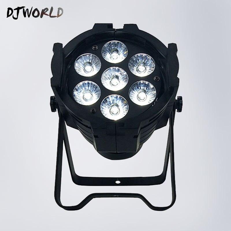 <font><b>7&#215;12</b></font> Watt 4in1 RGBW <font><b>Led</b></font> Par Light DJ Par Can Aluminum Alloy Dmx 512 8Channels Light DJ Wash Lighting Stage Light By DJWorld