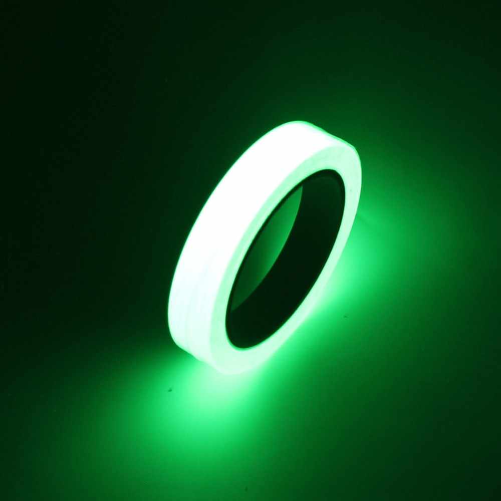 10 M 10 Mm Luminous Tape Night Vision Glow In Gelap Self-Adhesive Peringatan Keselamatan Pita Keamanan Rumah Dekorasi tape