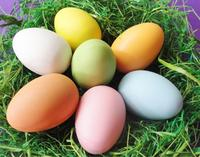 6cm Easter eggs decorated DIY hand painted white egg model molded plastic children's toys Creative Painting
