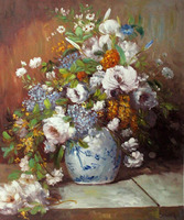 High quality Grande Vase Di Fiori Pierre Auguste Renoir oil painting canvas Hand painted Flower Art Reproduction