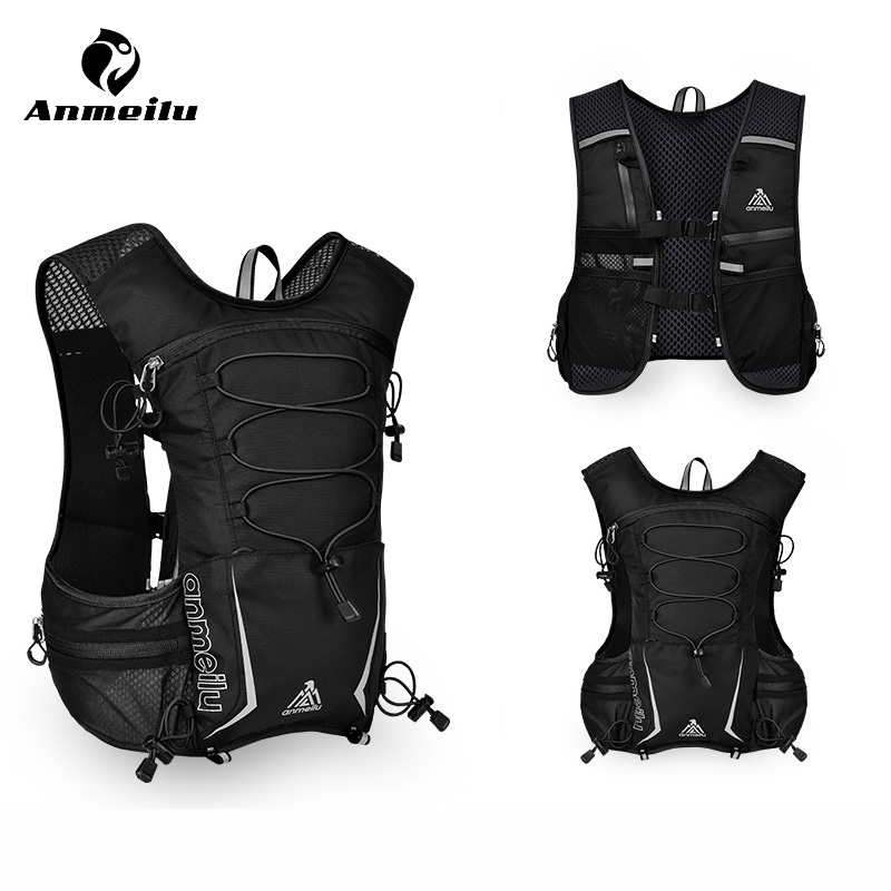 Anmeilu 5L Outdoor Sport Running Bag 5.5 Inch Phone Case Nylon Hiking Cycling Backpack Hydration Vest Pack Running Accessories