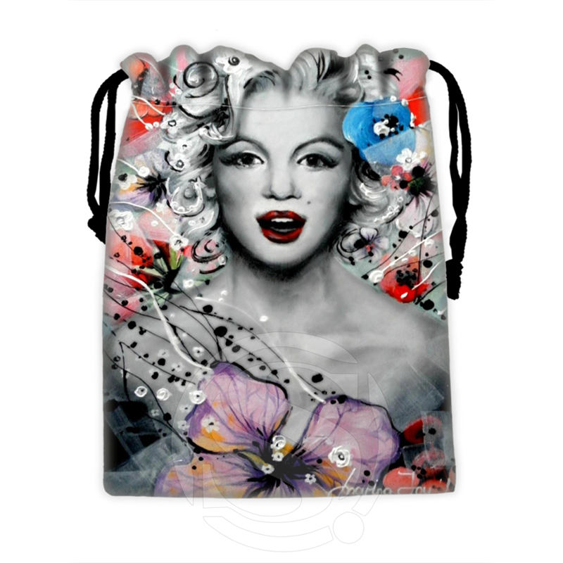 H P744 Custom Marilyn Monroe collage 3 drawstring bags for mobile phone tablet PC packaging Gift