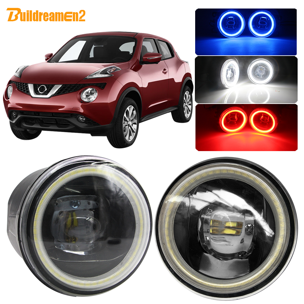 🛒 Cawanerl For Nissan Juke 2010 Car Accessories LED Fog
