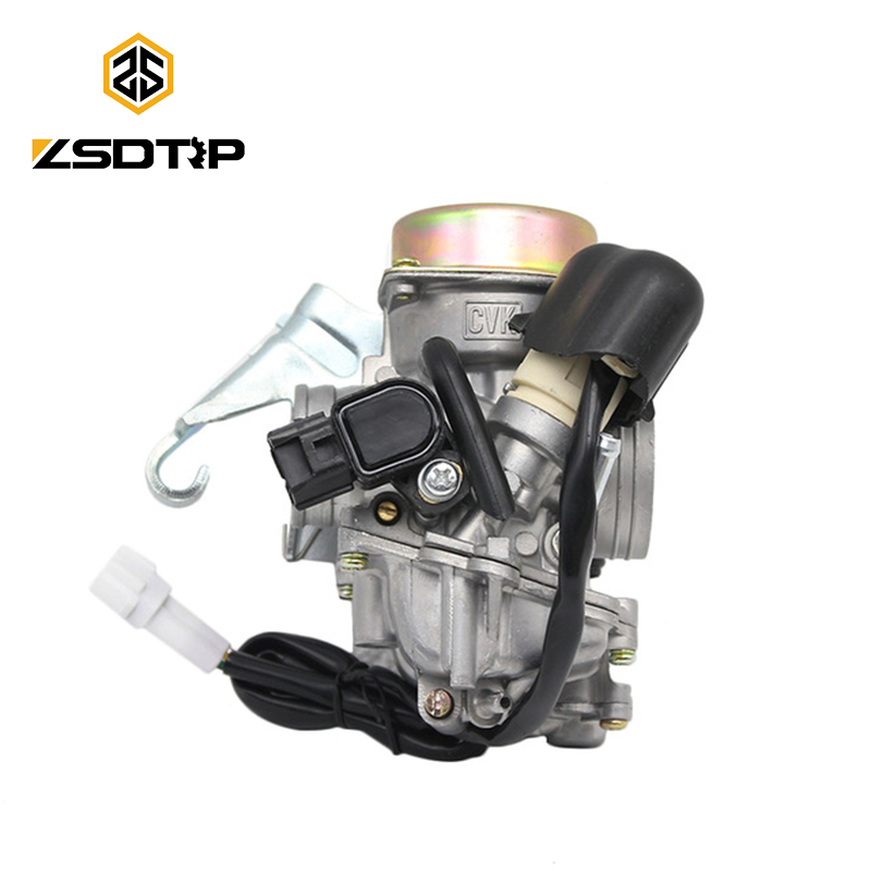 ZSDTRP moto CVK24 24.5mm carb carburateur électronique starter GY6 100 125 150 cc scooter ATV remplacer keihin