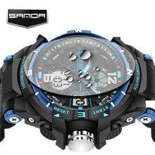SANDA Alarma Impermeable Para Hombre Relojes de Primeras Marcas de Lujo Reloj de Pulsera Digital Led Reloj Deportivo Hombres Reloj Masculino Del Relogio masculino 2017