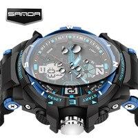 Sanda g alarme à prova dwaterproof água dos homens relógios de topo marca luxo S-SHOCK digital led relógio esportivo relógio masculino relógio pulso relogio masculino