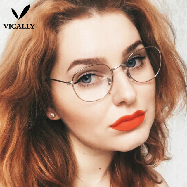 eed7cdbd08 Fashion Eyeglasses Round Spectacle Glasses Frames With Clear Lens Glass  Women Men Optical Frame Transparent Computer Glasses