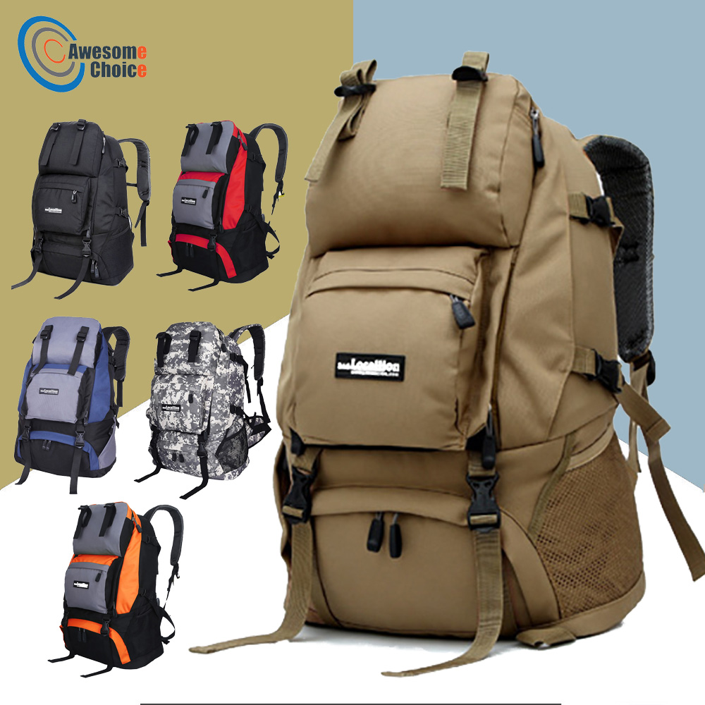 45L Waterproof Wear resistant hiking Backpack Resin Mesh Dorsal Breathable Outdoor Camping Backpacks Travel Sport Bags