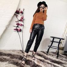 2019 New Fashion Genuine Sheep Leather Pants Y41