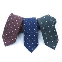 Feliavert Luxury Necktie Pure Handmade Wool Silk Ties Men High Quality Dot Wool Tie for Formal Business Wedding Party Cravate