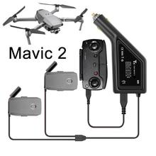 Batterie Auto Ladegerät Schnelle 3 in 1 Lade Adapter für DJI Mavic 2 Pro Zoom Flug Batterie Fernbedienung mit USB Ersatzteile