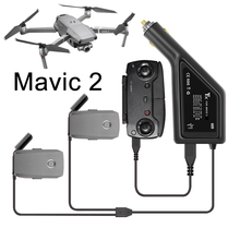 Battery Car Charger Fast 3 in 1 Charging Adapter for DJI Mavic 2 Pro Zoom Flight Battery Remote Control with USB Spare Parts