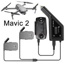 배터리 자동차 충전기 dji mavic 2 pro 용 고속 3 in 1 충전 어댑터 usb 예비 부품으로 줌 비행 배터리 원격 제어