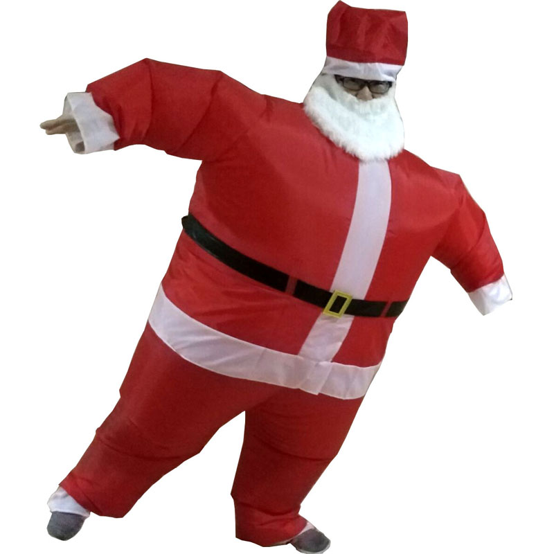 Santa Inflatable Costume Adult Fancy Dress Suit Party Halloween Christmas Xmas Santa Claus Costume carnival costumes  for women