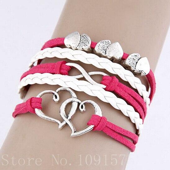 Multilayer Braided Bracelets ,  Multicolor woven leather bracelet & Bangle 8BD114