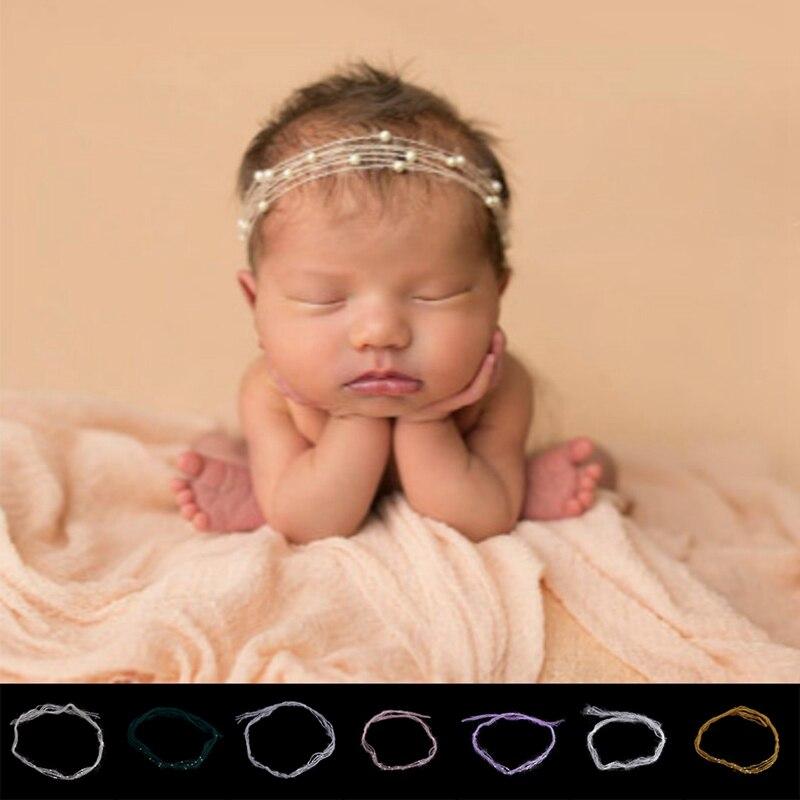 Повязка на голову для новорожденных и маленьких мохер жемчуг повязка Головные уборы аксессуары для волос для девочек принцесса Hairband аксесс...