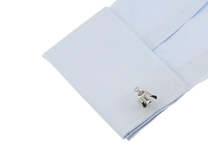Factory Price Retail Shirt Cufflinks Black Corkscrew Design Cuff Links