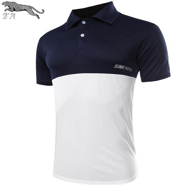 EA 2016 New fashion Brand Hot Sale Men's Polo Shirt For Men Polos Homme Short Sleeve Splice polo Shirt casual Clothing Camisas