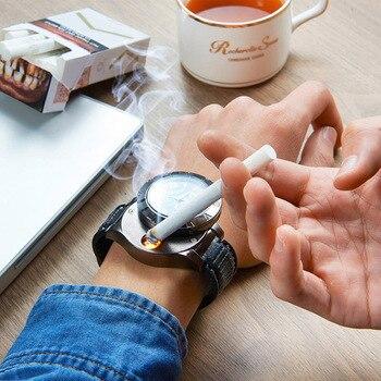 Cigarette Lighter USB Charging Quartz Watches 5