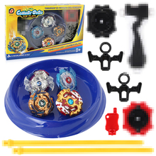 4pcs/set Spin Stadium Arena Toys 168-6 Metal Fight  4D Fusion With Launcher Handle Spinning Top Toys Gifts #E