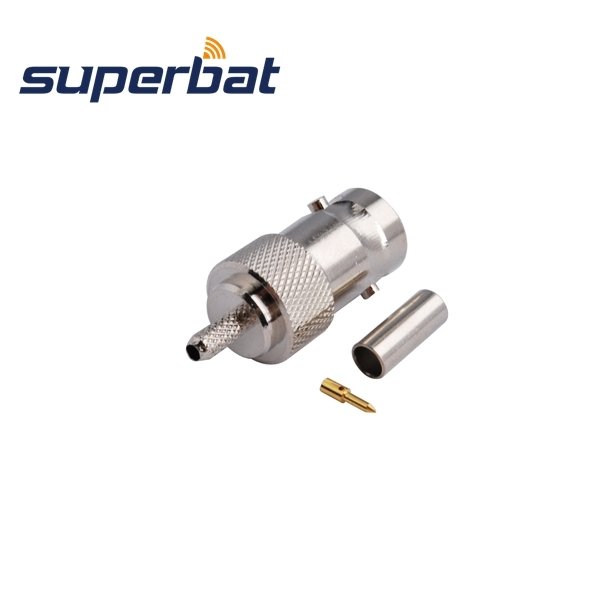 Superbat  10 Pcs Free Shipping RF BNC Connector Crimp Jack Female With Double Pin For RG316,RG174.LMR100,RG188