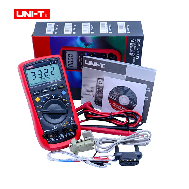 Digital Multimeter UNI-T UT61C High Reliability Modern Digital Multimeters  AC DC Meter CD Backlight & Data Hold MultitesterDigital Multimeter UNI-T UT61C High Reliability Modern Digital Multimeters  AC DC Meter CD Backlight & Data Hold Multitester