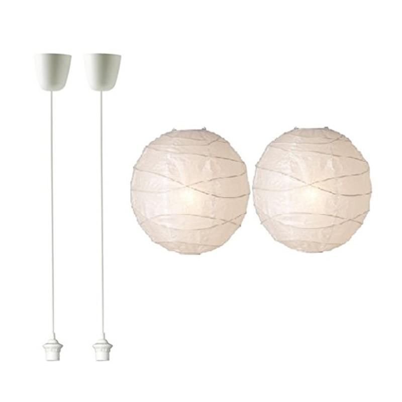 Brand New 2x white lamp suspension A ++