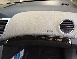 Image 2 - Nowe wewnętrzne rękawice ze stali nierdzewnej schowek na rękawiczki pokrywa naklejki dla chevroleta chevy classic cruze 2011 2012 2013 2014 akcesoria