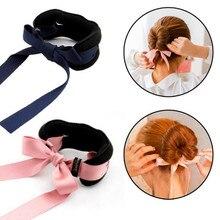 2017 Fashion Magic Tools Foam Sponge Device Quick Messy Donut Bun Hairstyle Women Hair Bows Band Silk Headband Accessories