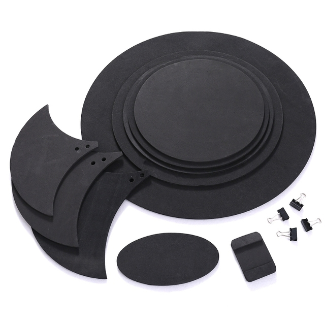 10pcs Bass Snare Drum Sound Off Mute Silencer Drumming Rubber Practice Pad Set #20/21W
