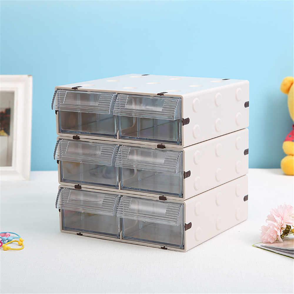 1 ชั้นพลาสติกลิ้นชัก Minimalist Office โต๊ะเก็บลิ้นชักแต่งหน้า Sundries เอกสารกระดาษคอนเทนเนอร์บ้าน