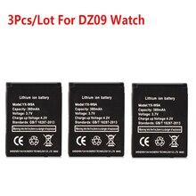 3 قطع x 380 مللي أمبير smart watch البطارية ل DZ09 smart watch بطارية استبدال البطارية ل DZ09 A1 smart watch