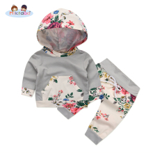 2 piece tracksuits – Grey white striped with flowers