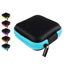 Мини ZipperHard головной убор из искусственной кожи, наушник, usb-кабель, портативные наушники, сумка, box7.5* 7,5*2,7 см
