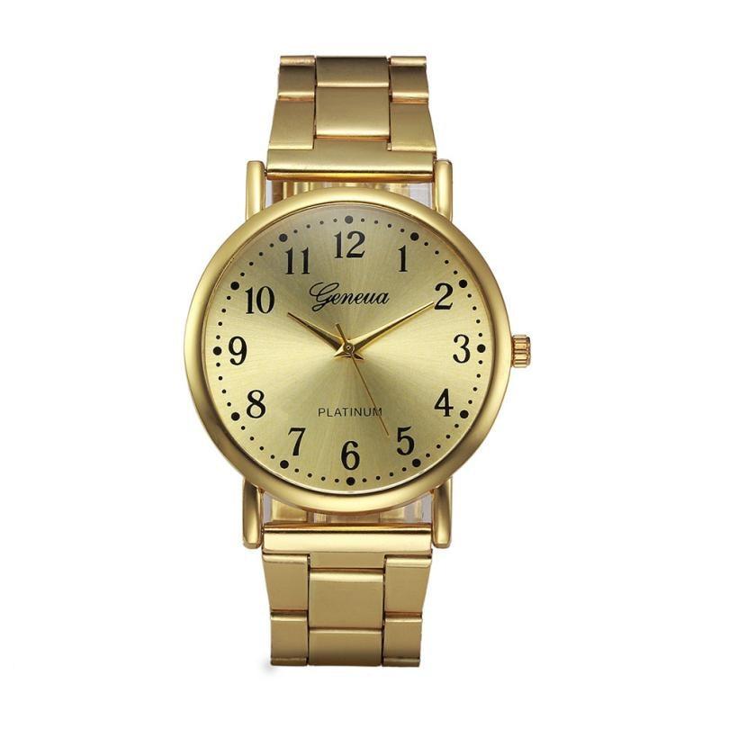 Timezone#402 Geneva Fashion unisex Watch Crystal Stainless Steel Analog Quartz Wrist Watch стоимость