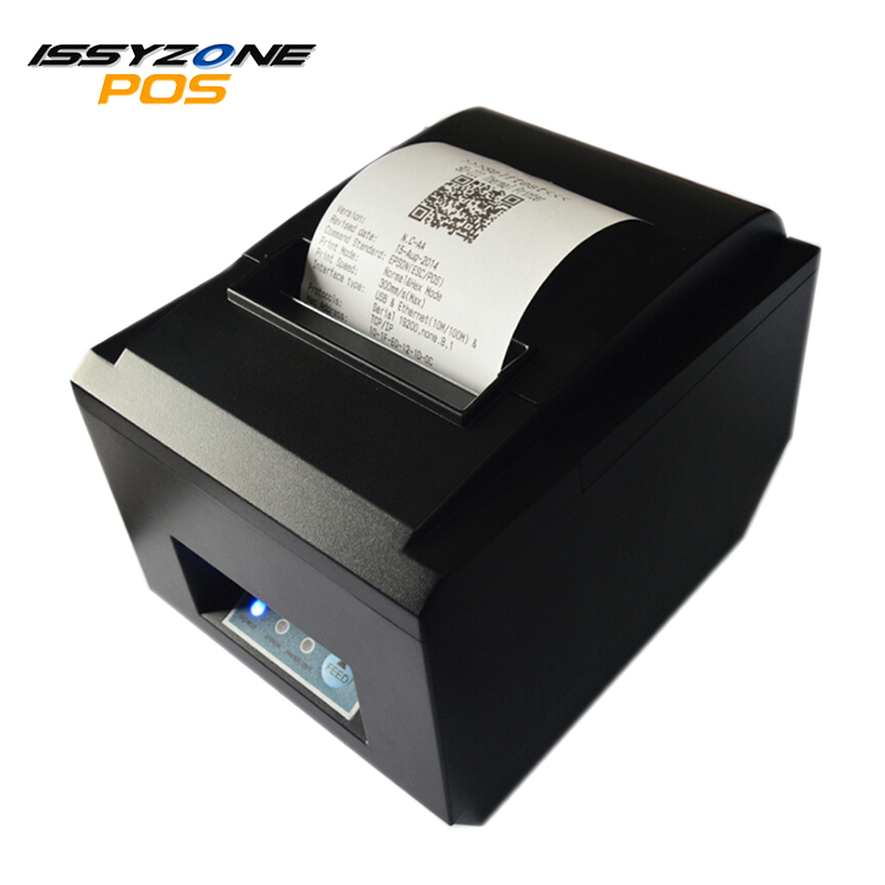 ISSYZONEPOS ITPP012 Thermal Receipt Kitchen Loyverse Printer 80mm Auto Cutter ESC/POS System Serial/USB/Ethernet Bill Printer