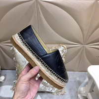 Luxury brand Genuine leather Women Fisherman shoes fashion Round Toe Women Pure hand sewing Flat Shoes Real leather Flat Shoes