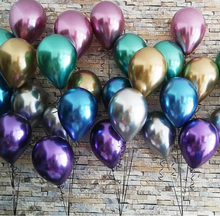 Metallic Balloon 12 inch 3.2 g Wedding Decors  Mix Colors Inflatable Decorations Air Ball Happy Birthday Party Supplie