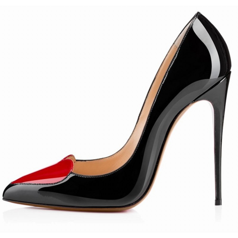 Loslandifen brand ladies women pumps high heels shoes woman party wedding dress OL pointed toe stiletto shoe Heart-shaped guapabien new sexy pointed toe red bottom high thin heels wedding shoes ladies brand women pumps shoes high heels ol dress pumps