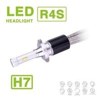 1 Set H7 90W 10400LM R4S LED Headlight Super Slim Conversion Kit Driving Fog Headlamp Bulb